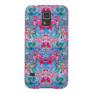 Capas Par Galaxy S5 Teste padrão azul do lux do pássaro do jardim