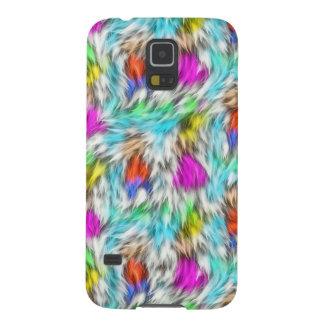 Capas Par Galaxy S5 Teste padrão branco colorido da pele do leopardo