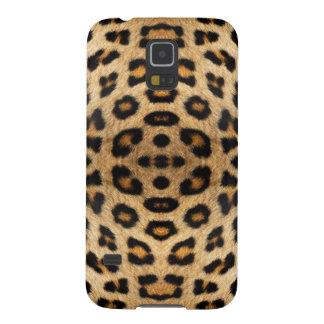 Capas Par Galaxy S5 Teste padrão da pele do leopardo