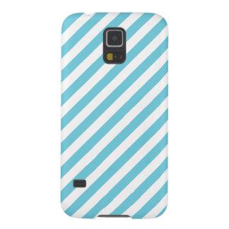 Capas Par Galaxy S5 Teste padrão diagonal azul e branco das listras