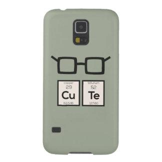 Capas Par Galaxy S5 Vidros bonitos Zwp34 do nerd do elemento químico
