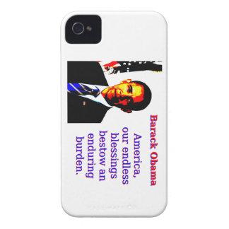 Capas Para iPhone 4 Case-Mate América nossas bênçãos infinitas - Barack Obama