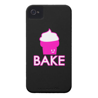 Capas Para iPhone 4 Case-Mate Assar - design do cupcake - texto branco