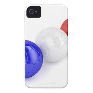 Capas Para iPhone 4 Case-Mate Bolas do futebol com a bandeira de France