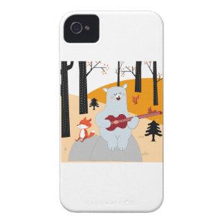 Capas Para iPhone 4 Case-Mate Bonito cante um lobo da raposa da canção do verão