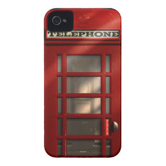 Capas Para iPhone 4 Case-Mate Caixa de telefone vermelha britânica do vintage