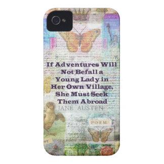 Capas Para iPhone 4 Case-Mate Citações da aventura do viagem de Jane Austen