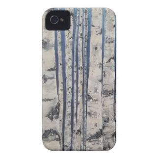 Capas Para iPhone 4 Case-Mate Código Morse das árvores de vidoeiro
