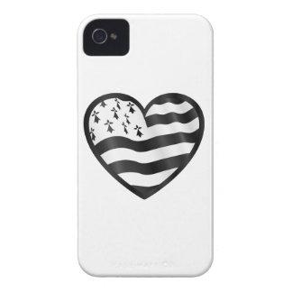 Capas Para iPhone 4 Case-Mate Coração com bandeira de Bretin para dentro