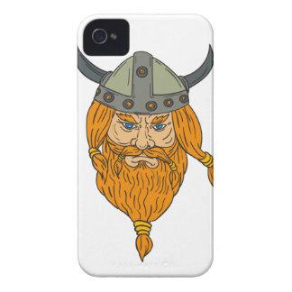 Capas Para iPhone 4 Case-Mate Desenho da cabeça do guerreiro de Viking do