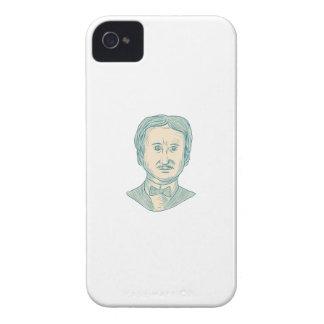 Capas Para iPhone 4 Case-Mate Desenho do escritor de Edgar Allan Poe