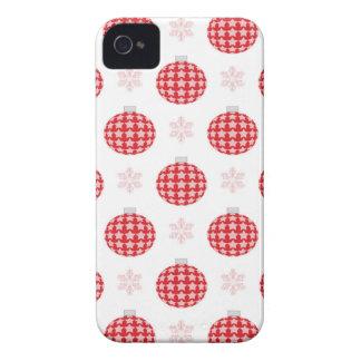 Capas Para iPhone 4 Case-Mate Enfeites de natal vermelhos