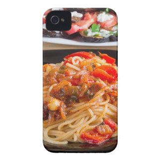 Capas Para iPhone 4 Case-Mate Espaguetes da massa com partes de pimenta de sino