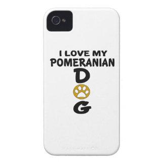 Capas Para iPhone 4 Case-Mate Eu amo meu design do cão de Pomeranian