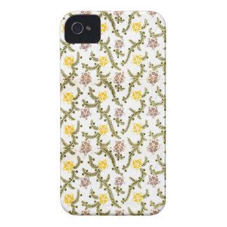 Capas Para iPhone 4 Case-Mate Impressão retro do vintage da flor amarela e