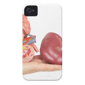 Capas Para iPhone 4 Case-Mate Mão lisa que mostra o rim humano modelo