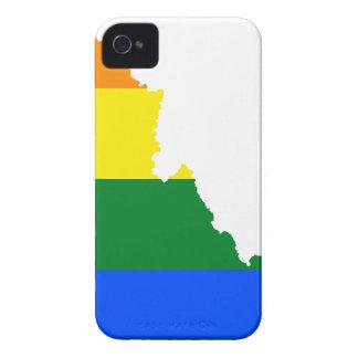 Capas Para iPhone 4 Case-Mate Mapa da bandeira de Idaho LGBT