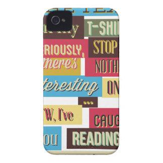 Capas Para iPhone 4 Case-Mate pare de ler os textos, design fresco legal