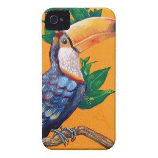 Capas Para iPhone 4 Case-Mate Pintura bonita do pássaro de Toucan