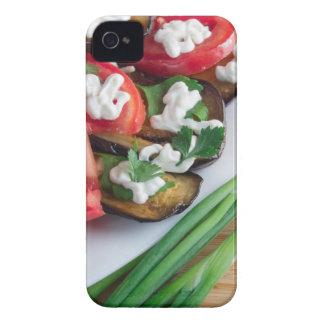 Capas Para iPhone 4 Case-Mate Prato de vegetariano da beringela stewed