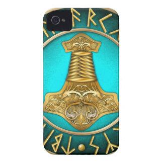 Capas Para iPhone 4 Case-Mate Runes - martelo dos Thors - cerceta