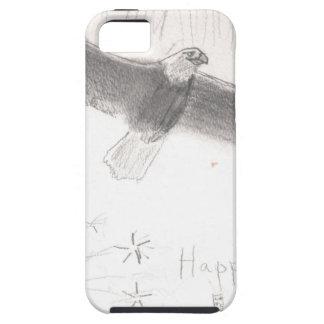 Capas Para iPhone 5 4' th da águia americana dos fogos-de-artifício de