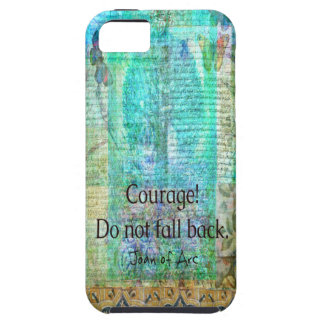 Capas Para iPhone 5 A coragem não cai para trás JOANA de citações do