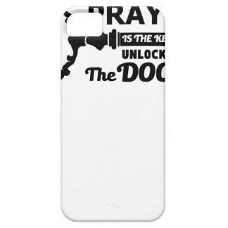 Capas Para iPhone 5 A oração é a chave a todas as portas
