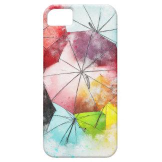 Capas Para iPhone 5 Abstrato colorido dos guarda-chuvas