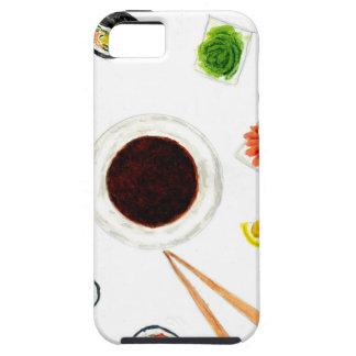 Capas Para iPhone 5 Aguarela ajustada do sushi