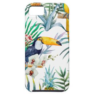 Capas Para iPhone 5 Aguarela tropical do pássaro do papagaio do