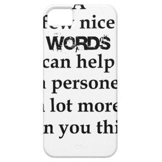 Capas Para iPhone 5 algumas palavras agradáveis podem ajudar uma