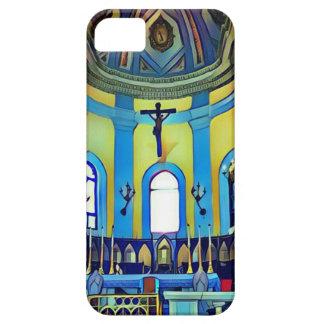 Capas Para iPhone 5 Altar vibrante azul amarelo bonito da igreja
