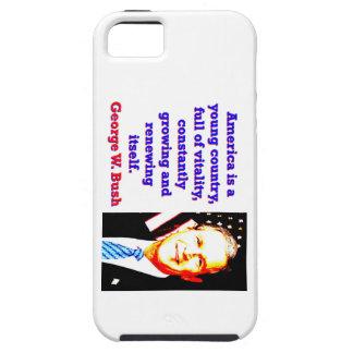 Capas Para iPhone 5 América é um país novo - G W Bush