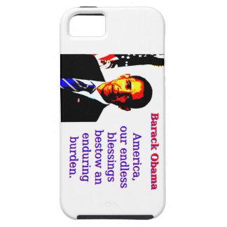 Capas Para iPhone 5 América nossas bênçãos infinitas - Barack Obama