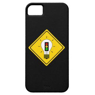 Capas Para iPhone 5 Ampola temperamental do sinal de trânsito adiante