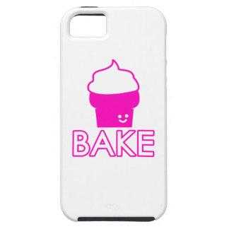 Capas Para iPhone 5 Assar - design do cupcake - texto branco