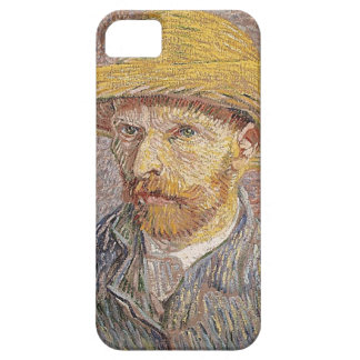Capas Para iPhone 5 Auto-Retrato com um chapéu de palha - Van Gogh