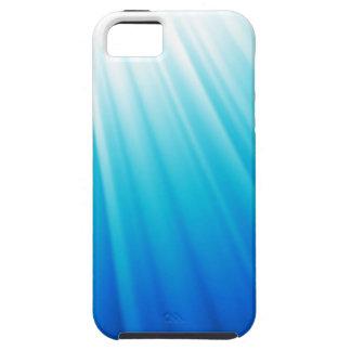 Capas Para iPhone 5 Azul branco claro celestial do aqua de Ombre