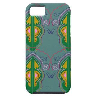Capas Para iPhone 5 Azul luxuoso do verde dos ornamento
