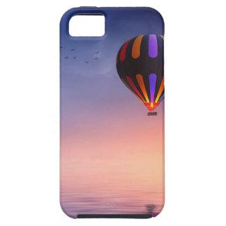 Capas Para iPhone 5 Balão de ar quente sobre o oceano no por do sol