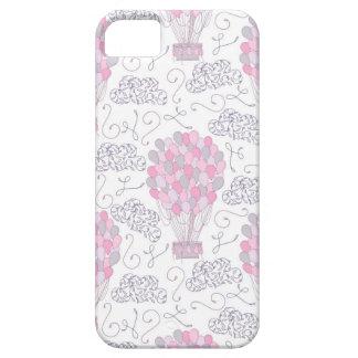 Capas Para iPhone 5 Balões de ar quente na arte cor-de-rosa do