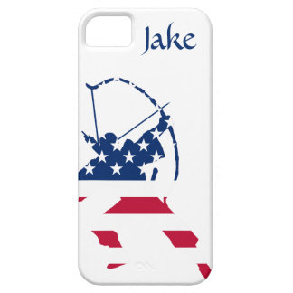 Capas Para iPhone 5 Bandeira americana do arqueiro do tiro ao arco dos