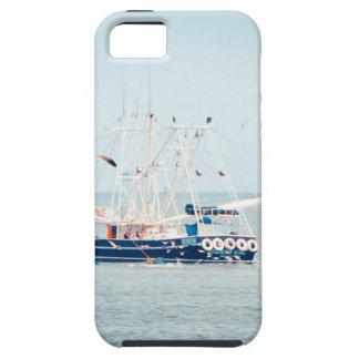 Capas Para iPhone 5 Barco azul do camarão no oceano