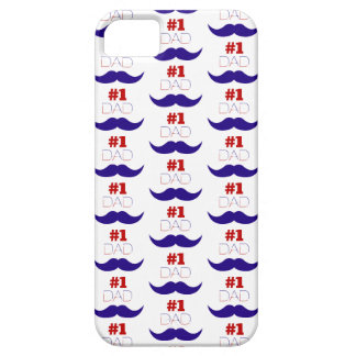 Capas Para iPhone 5 Bigode branco do pai #1 e azul vermelho - número