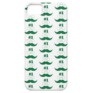 Capas Para iPhone 5 Bigode do verde do pai #1 - número um
