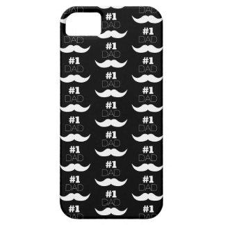 Capas Para iPhone 5 Bigode preto e branco do pai #1 - número um
