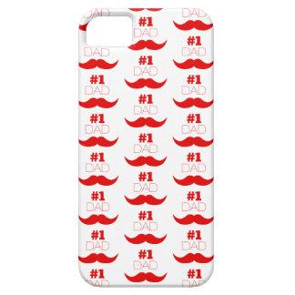 Capas Para iPhone 5 Bigode vermelho do pai #1 - número um