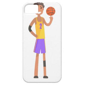 Capas Para iPhone 5 Bola de giro do jogador de basquetebol em uma ação