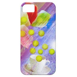 Capas Para iPhone 5 Bolas de tênis da gota dos lírios a comemorar.